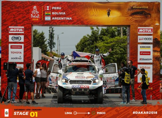 Technical problem spoiled first day of Dakar for Ourednicek and Kripal