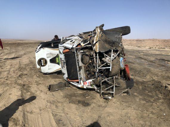Obrázek galerie Accident in Morocco Desert Challenge 2018